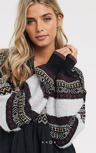Free People Cozy Cottage Sweater in Black - Med